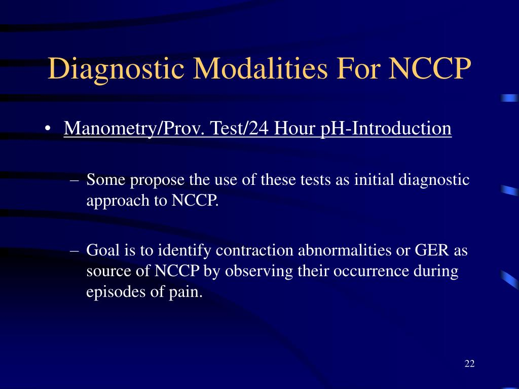 Diagnostic Modalities For NCCP