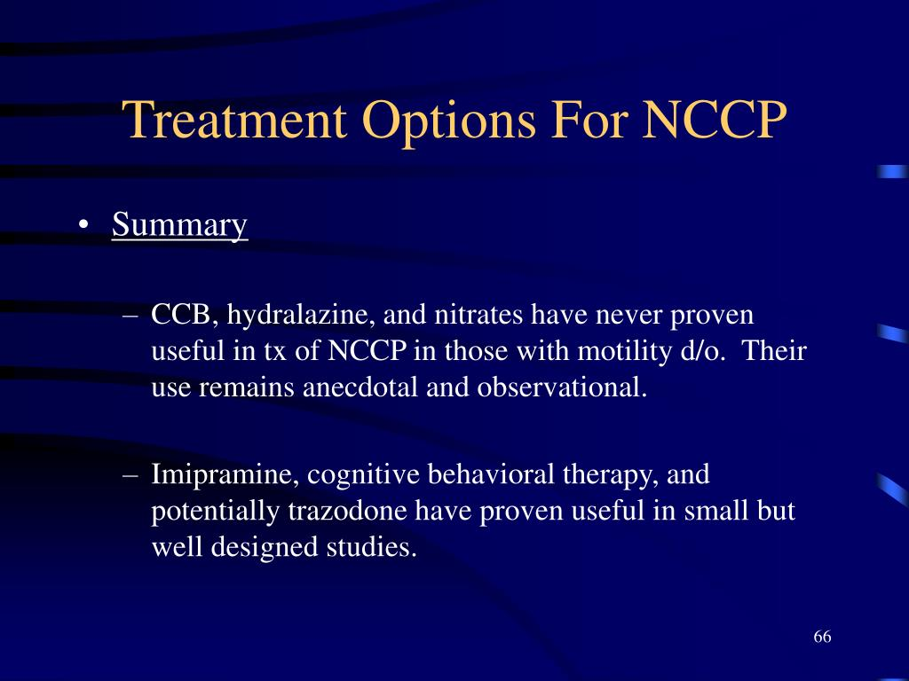 Treatment Options For NCCP