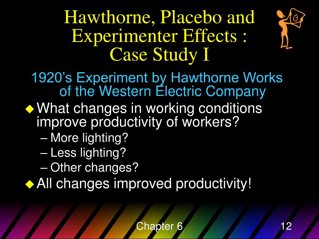 Hawthorne, Placebo and Experimenter Effects :