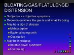 bloating gas flatulence distension
