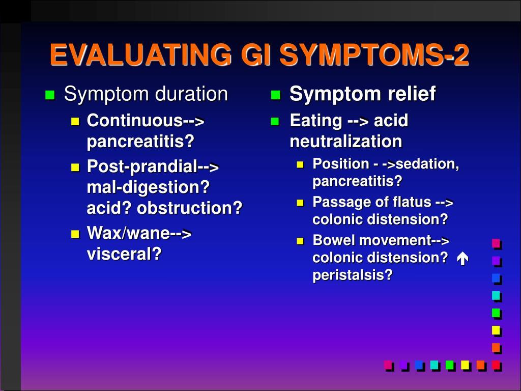 Symptom duration