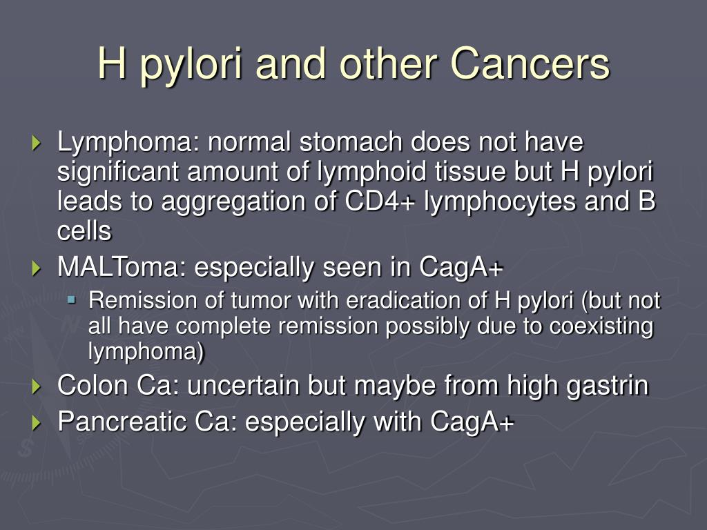 H pylori and other Cancers