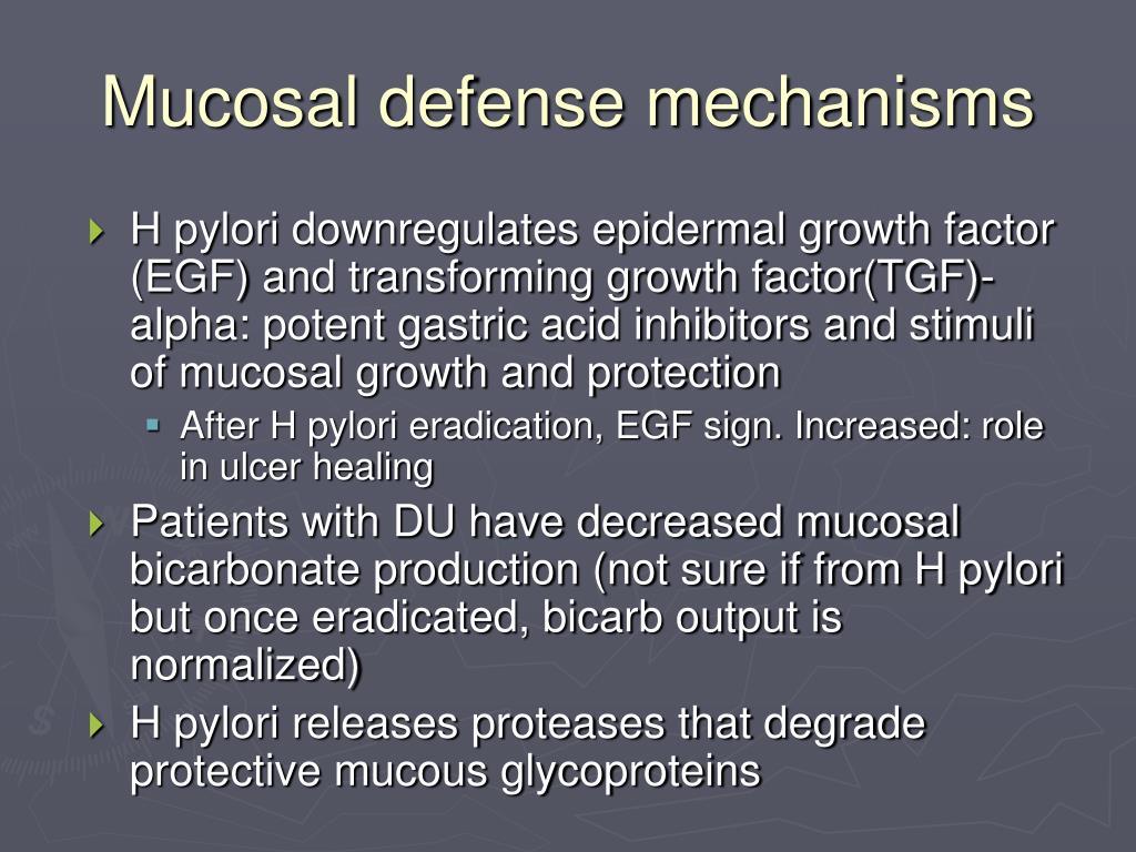 Mucosal defense mechanisms