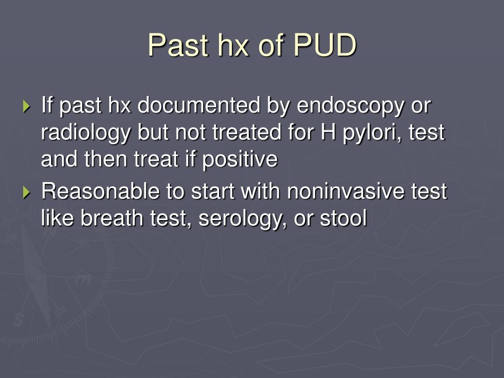 Past hx of PUD