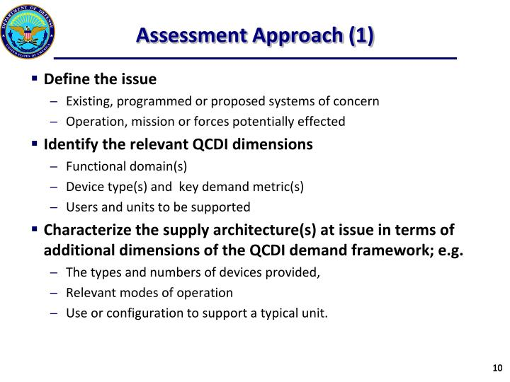 Assessment Approach (1)