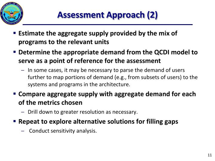 Assessment Approach (2)
