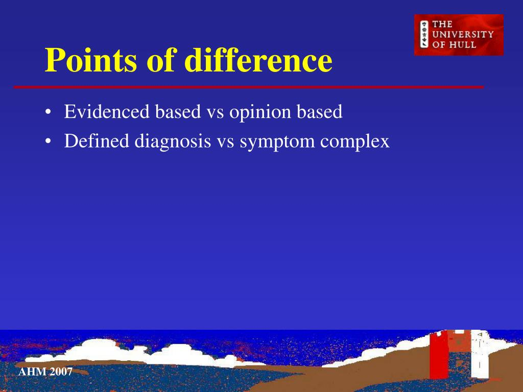 Points of difference