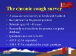 the chronic cough survey