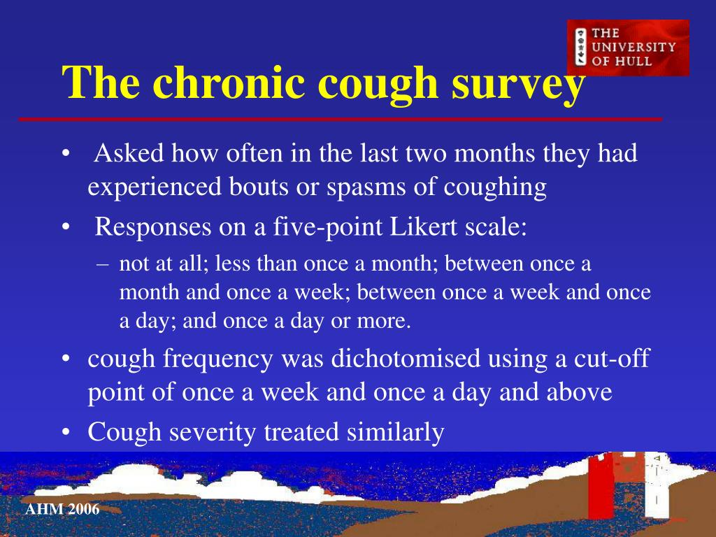 The chronic cough survey