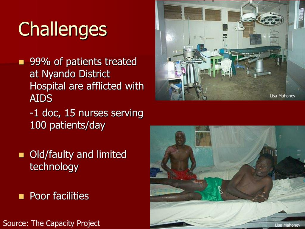99% of patients treated at Nyando District Hospital are afflicted with AIDS