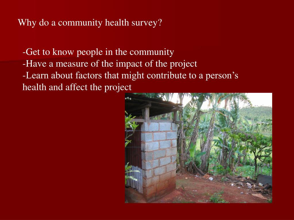 Why do a community health survey?