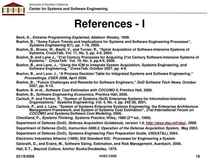 References - I