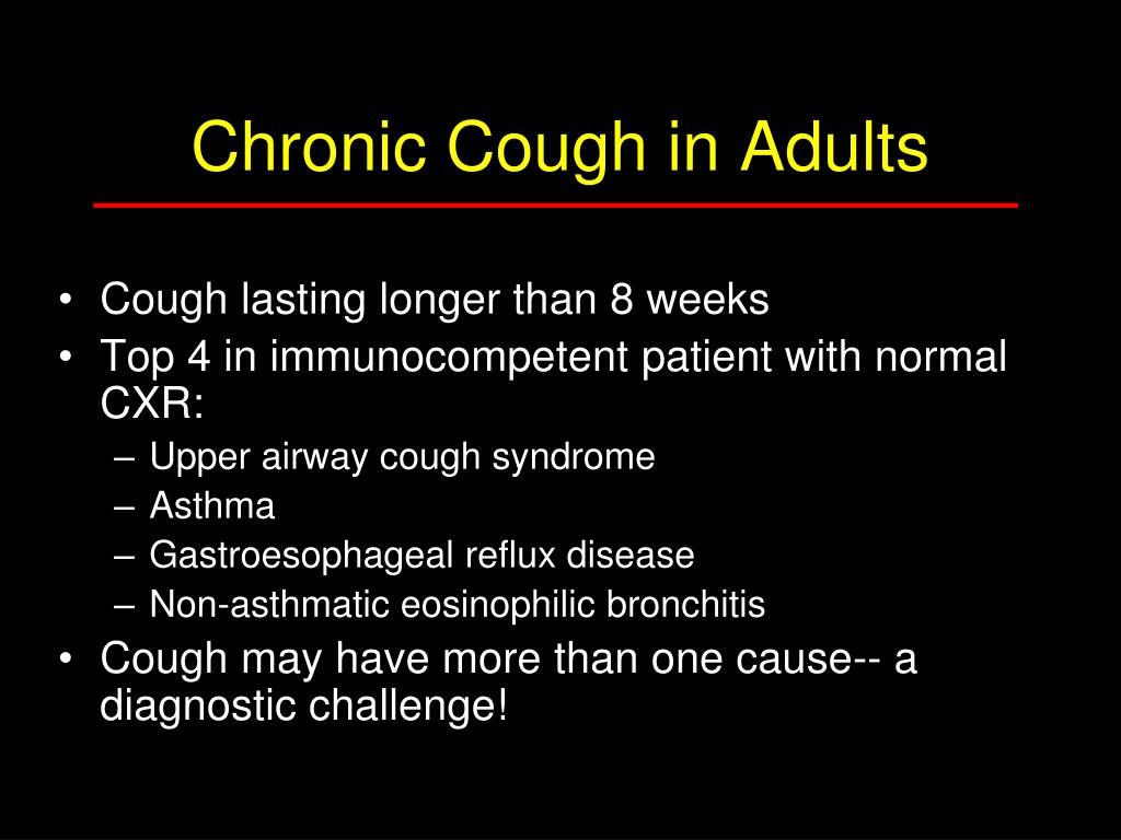 Chronic Cough in Adults