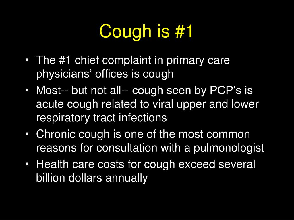 Cough is #1