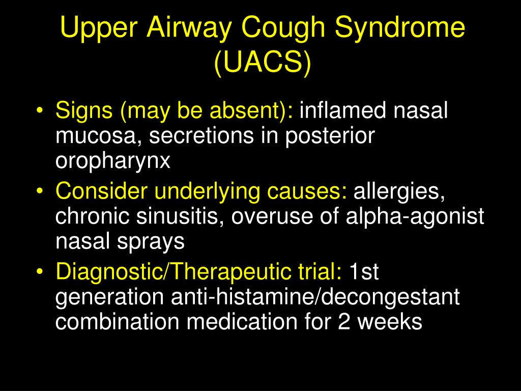 Upper Airway Cough Syndrome (UACS)