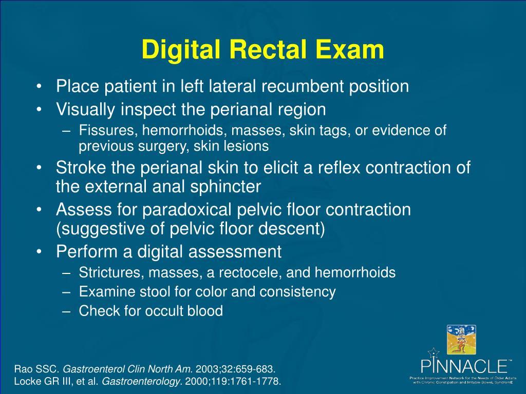 Digital Rectal Exam