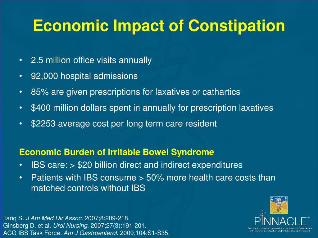 Economic Impact of Constipation