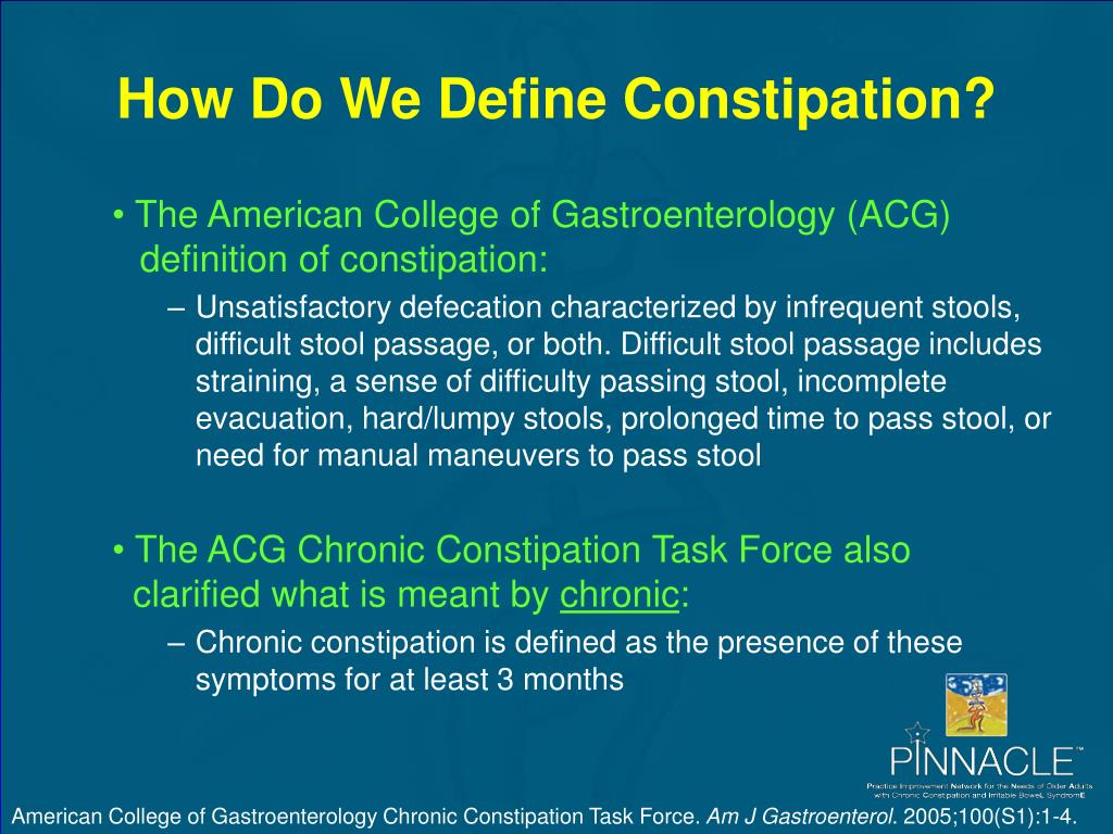 How Do We Define Constipation?