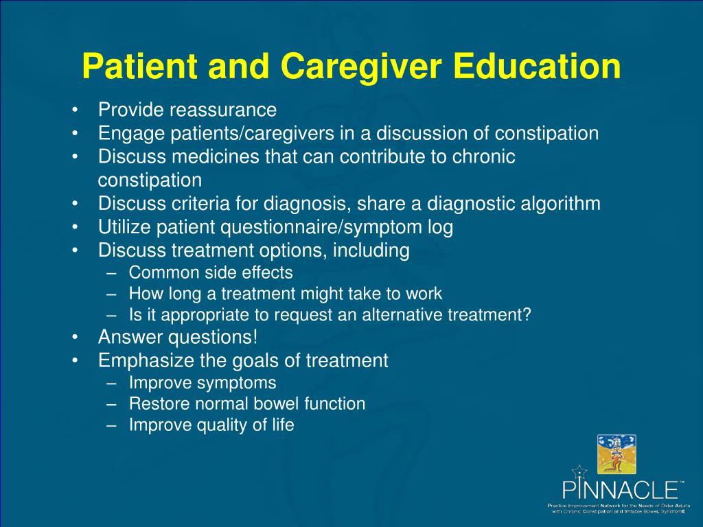 Patient and Caregiver Education