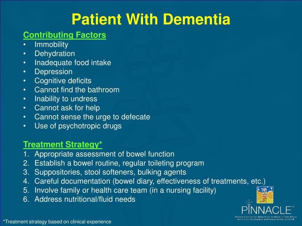 Patient With Dementia