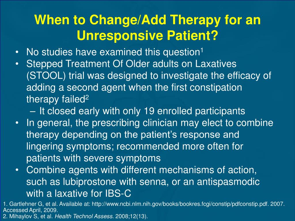 When to Change/Add Therapy for an Unresponsive Patient?