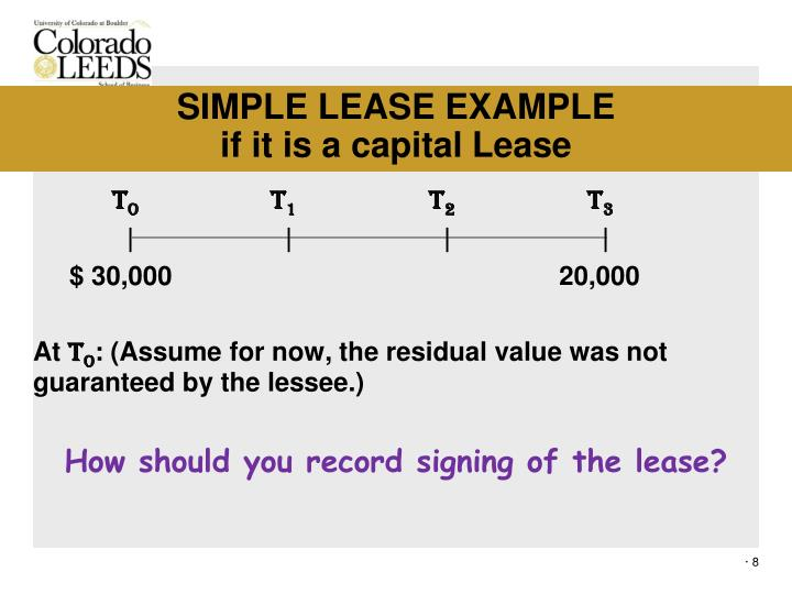 SIMPLE LEASE EXAMPLE