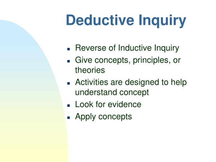 Deductive Inquiry