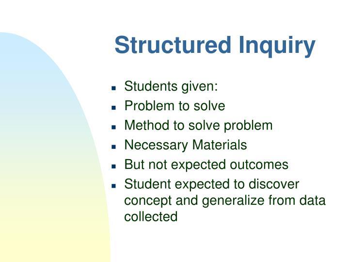 Structured Inquiry