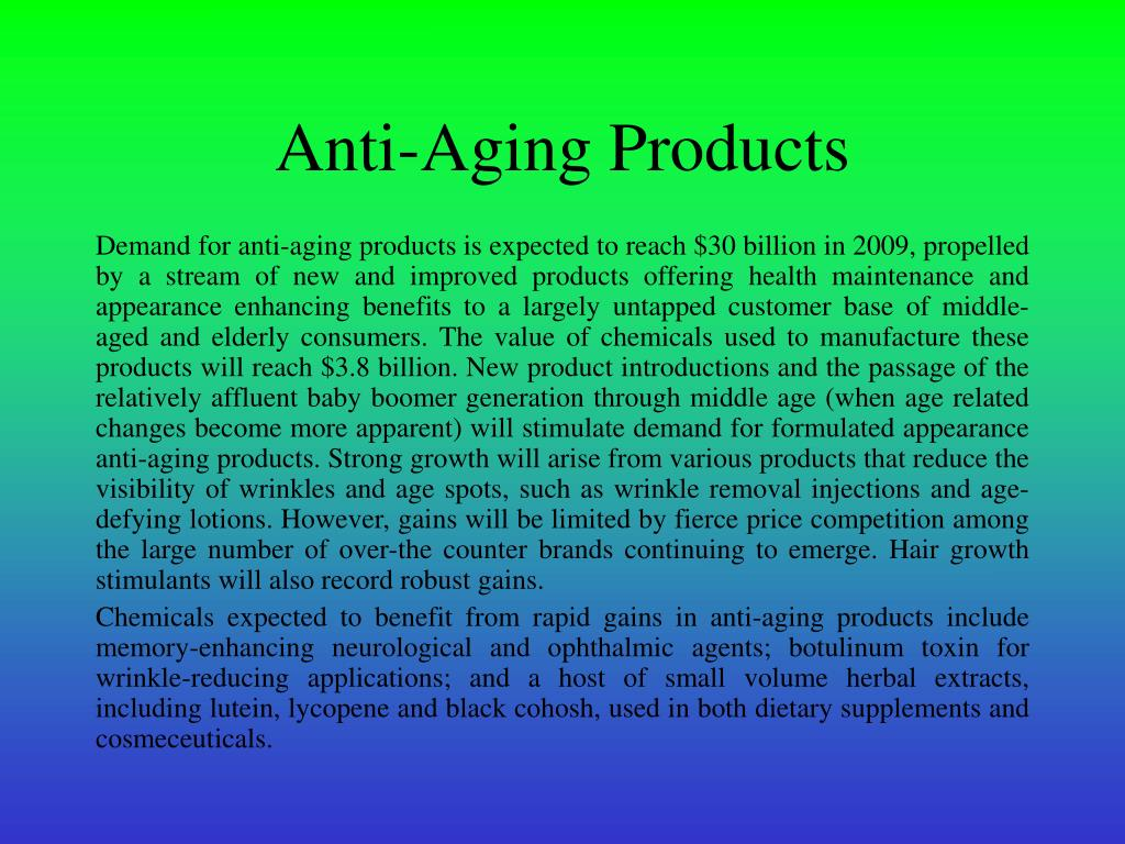 Anti-Aging Products