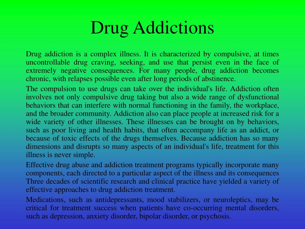 Drug Addictions
