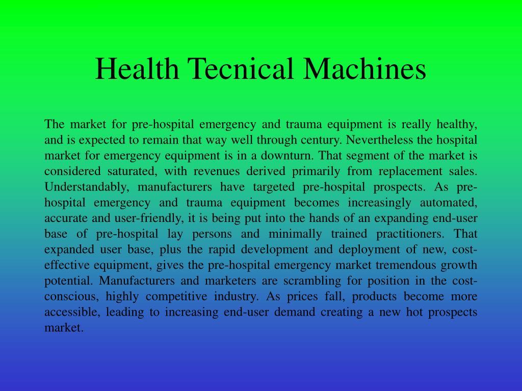 Health Tecnical Machines