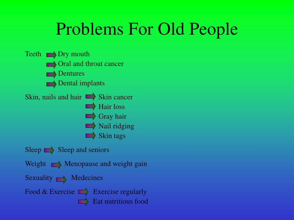 Problems For Old People