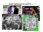 and rational to sell it