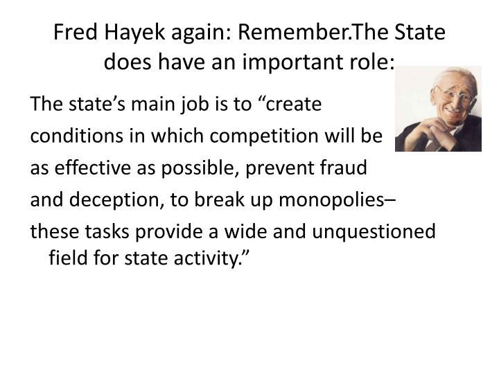 Fred Hayek again: