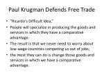 paul krugman defends free trade