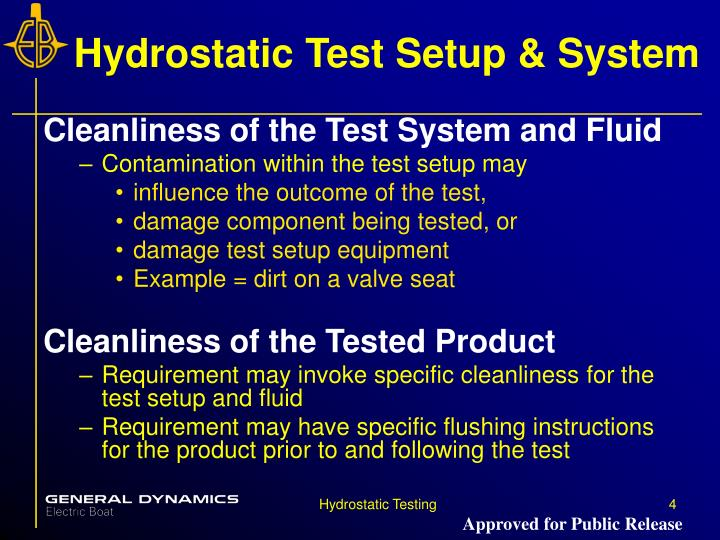 Hydrostatic Test Setup & System
