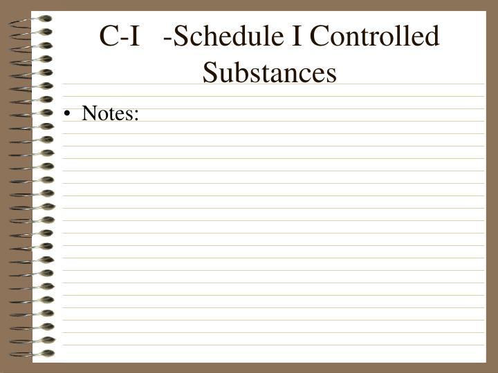 C-I   -Schedule I Controlled Substances