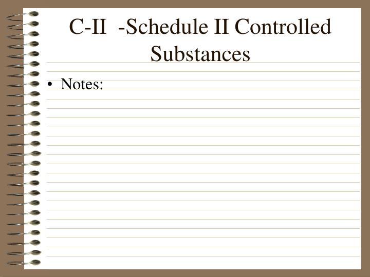 C-II  -Schedule II Controlled Substances