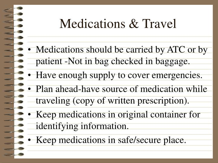 Medications & Travel