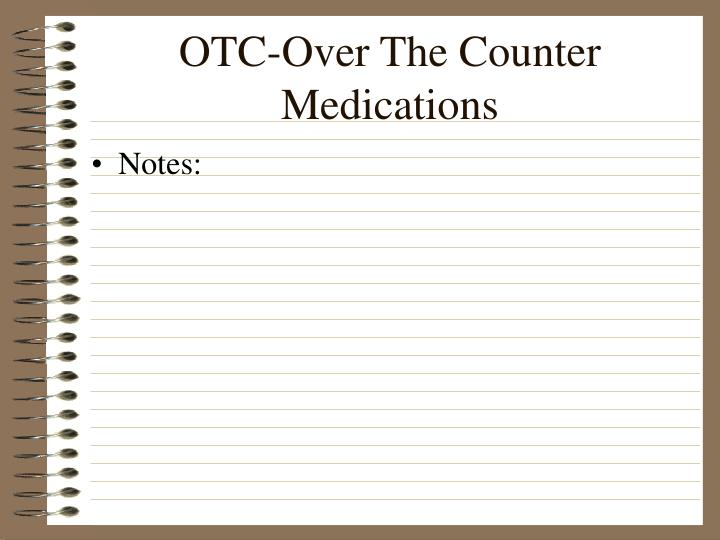 OTC-Over The Counter Medications