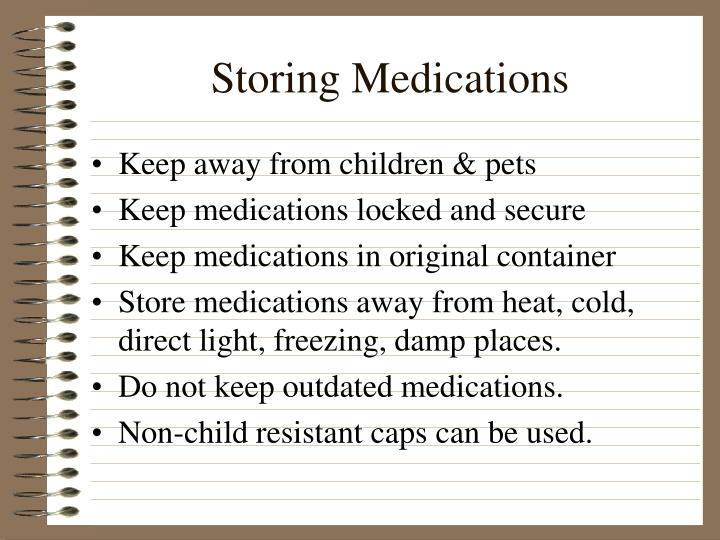 Storing Medications