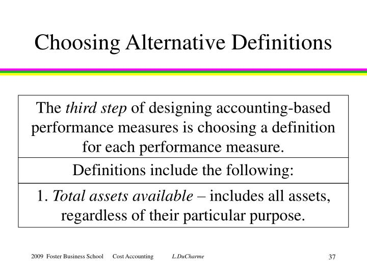 Choosing Alternative Definitions