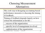 choosing measurement alternatives2
