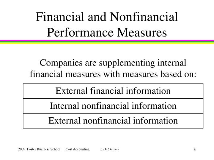 Financial and nonfinancial performance measures