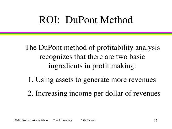 ROI:  DuPont Method