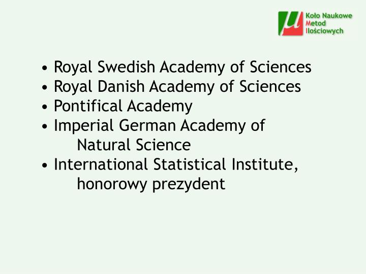 Royal Swedish Academy of Sciences