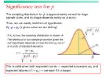 significance test for p