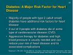 diabetes a major risk factor for heart disease