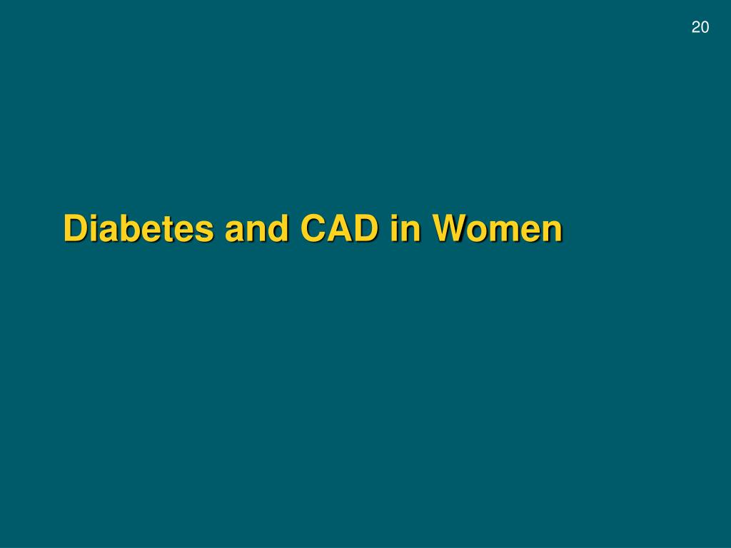 Diabetes and CAD in Women
