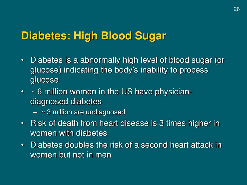 Diabetes: High Blood Sugar